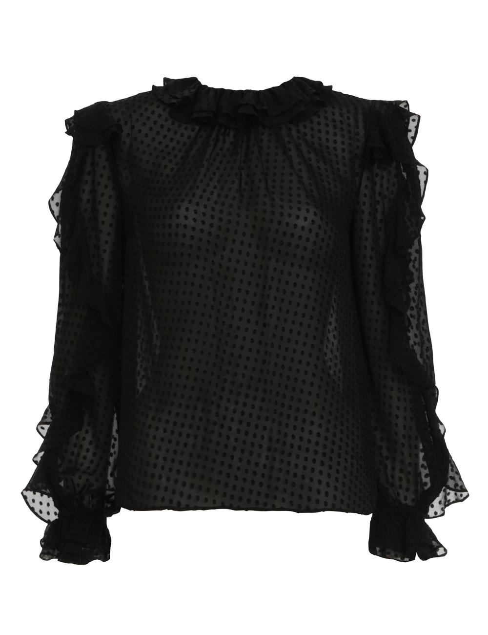 Super Eight Dot Ruffle Shirt