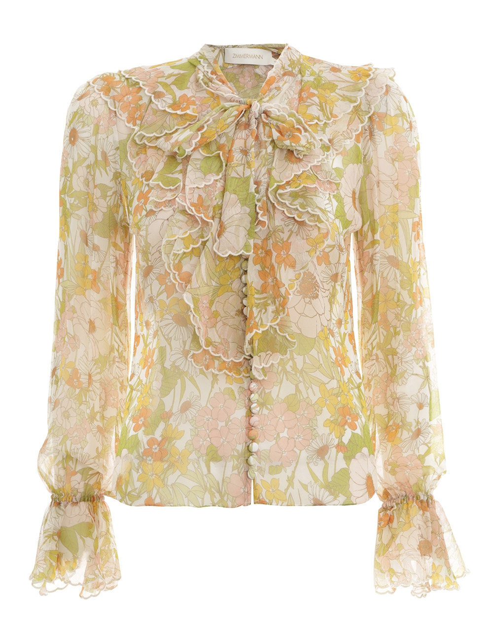 Super Eight Scalloped Blouse