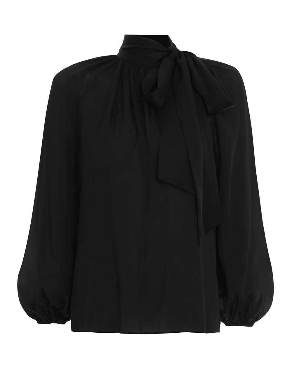 Silk Tie Blouse