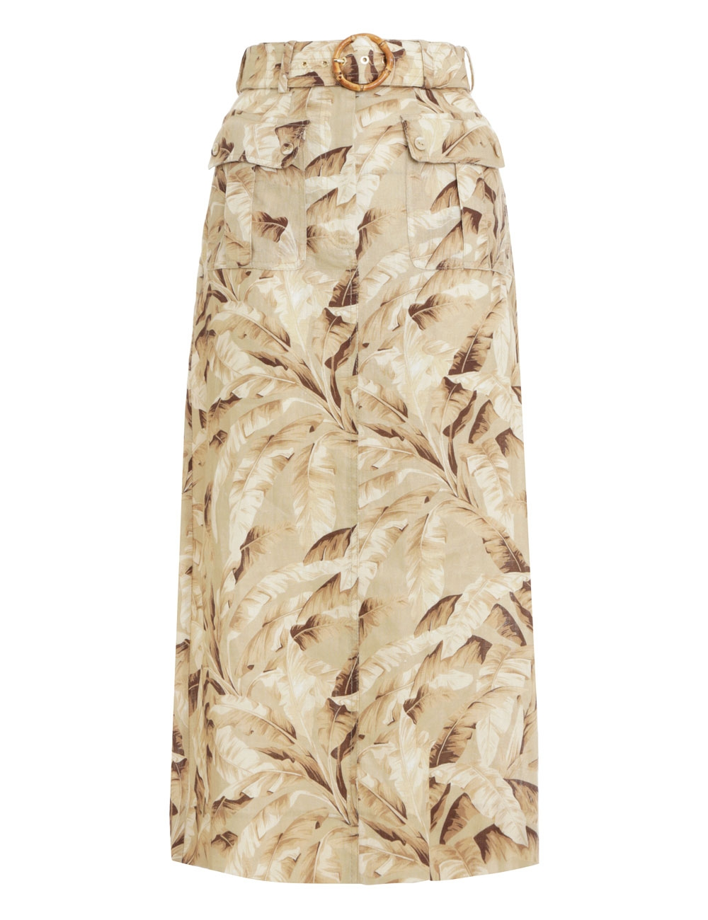Super Eight Safari Midi Skirt