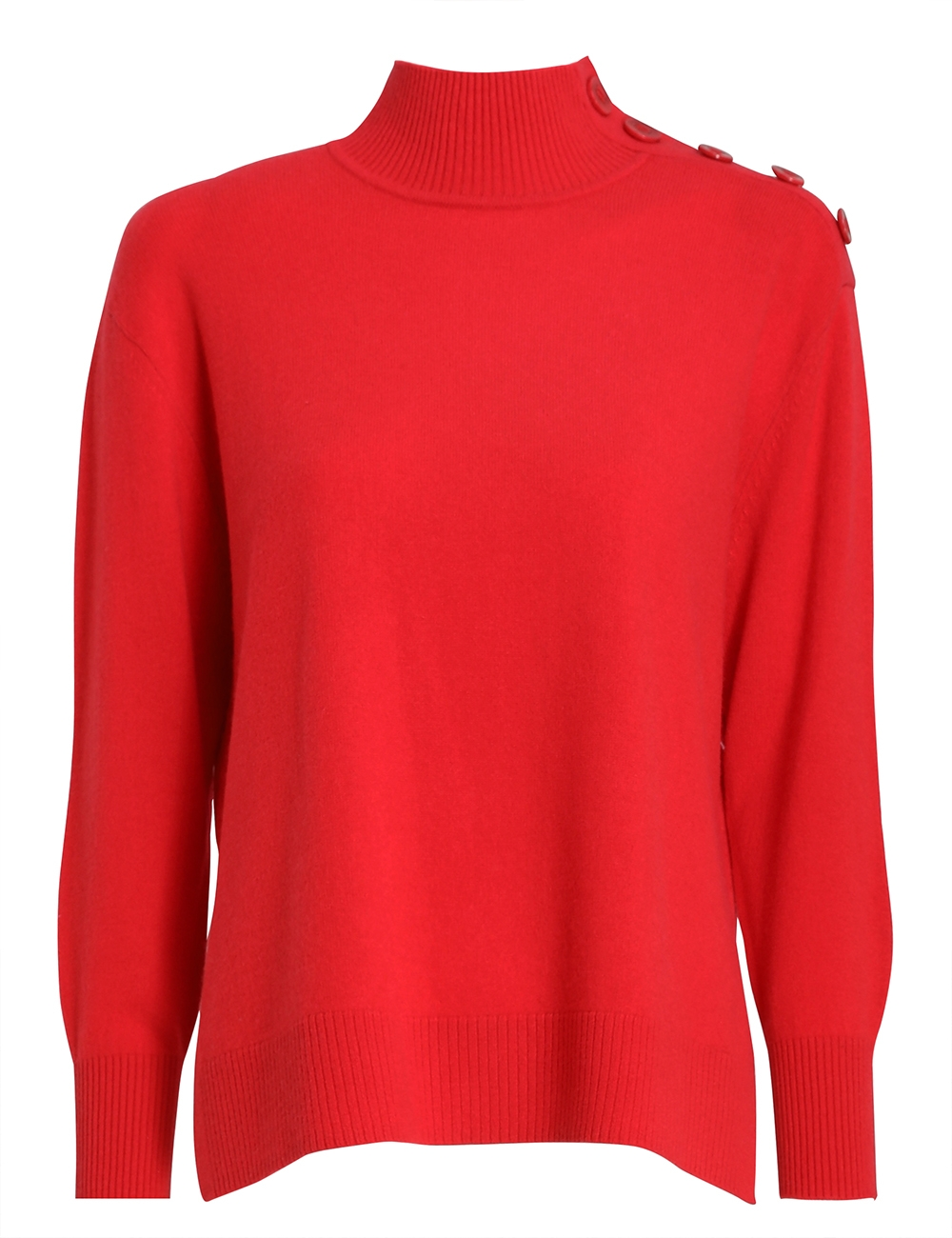 Turtle Neck Button Sweater