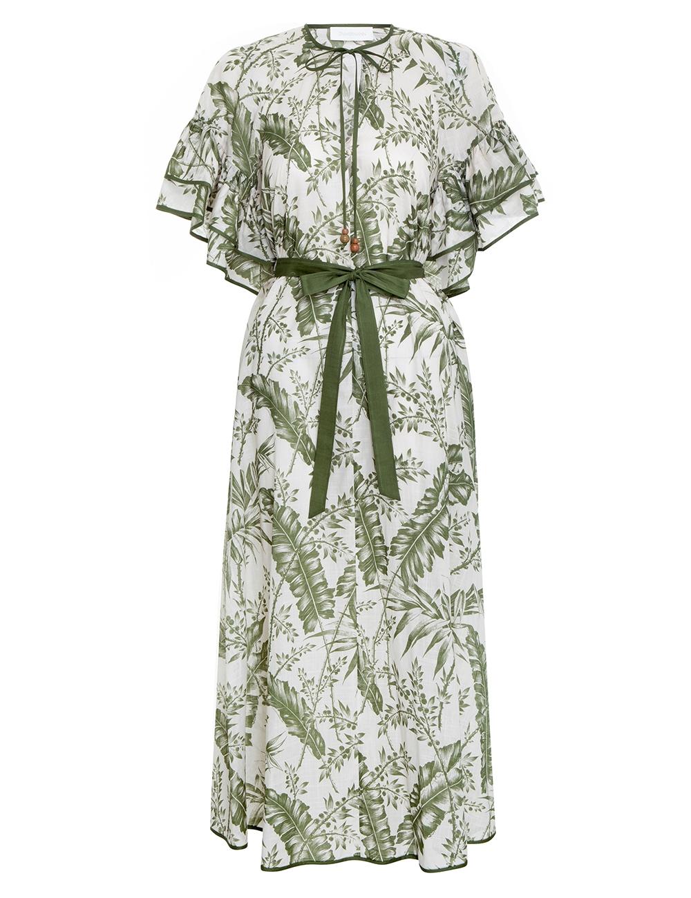Empire Flutter Sleeve Dress