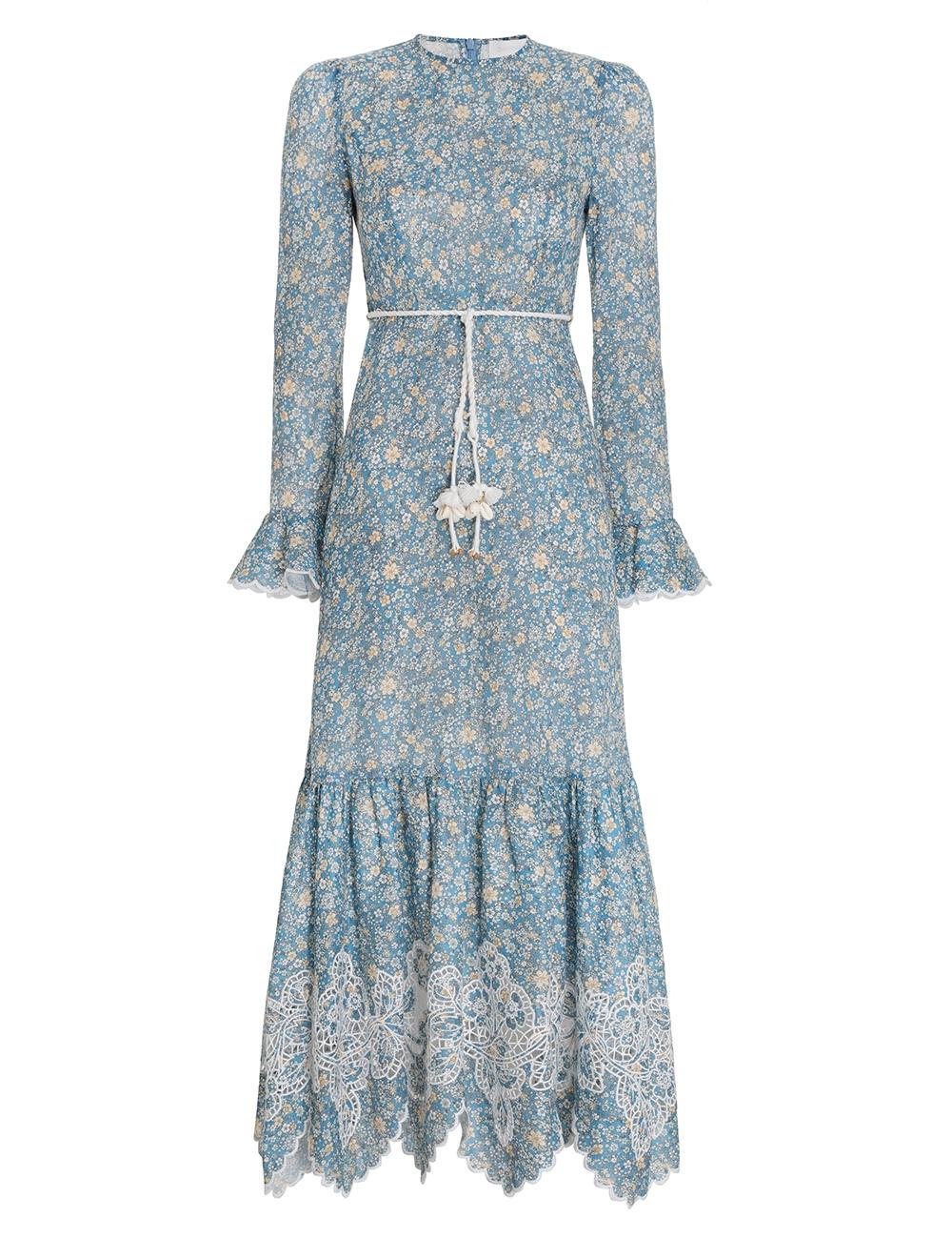 Carnaby Frill Long Dress