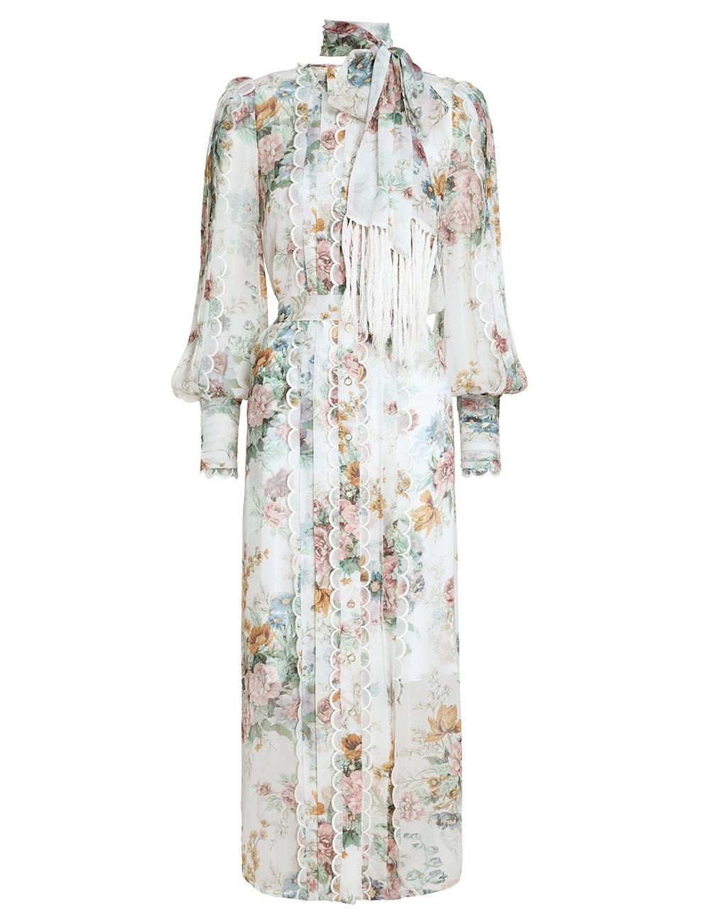 Wavelength Scallop Midi Dress
