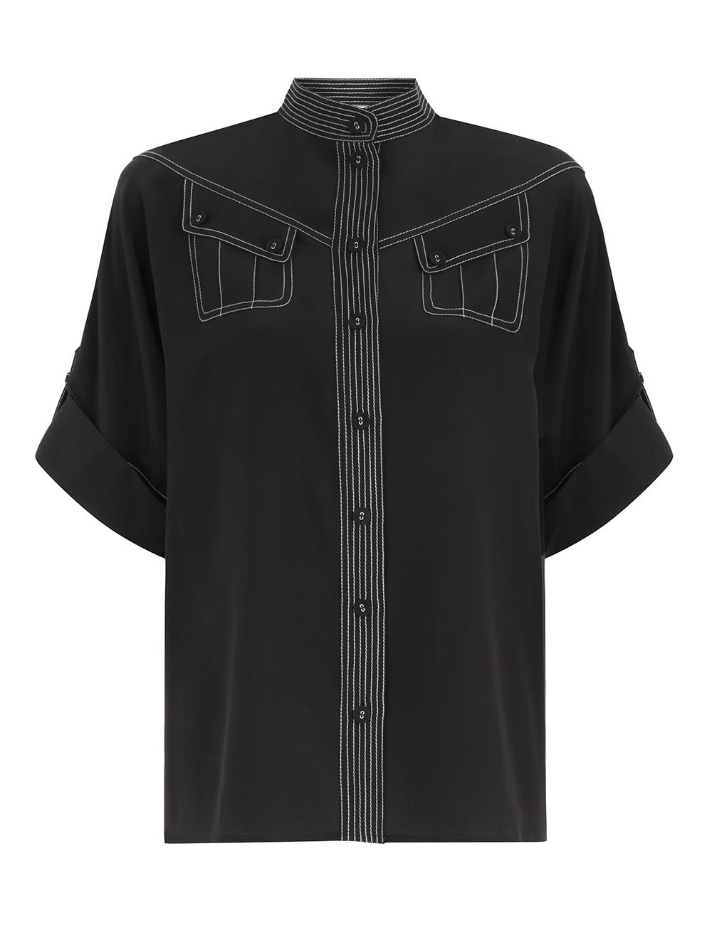 Silk Utility Shirt