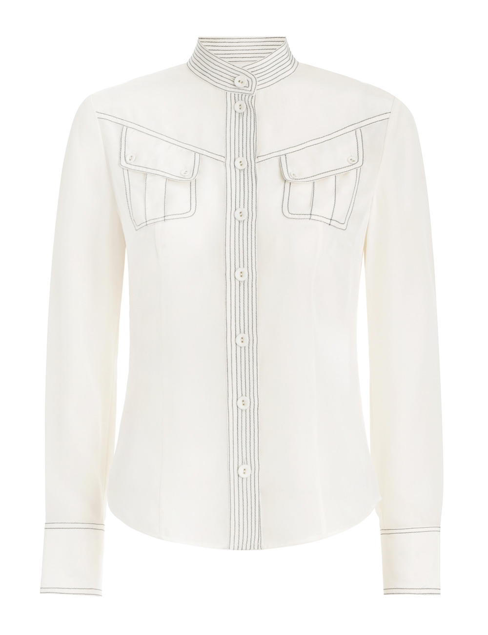 Silk Utility Body Shirt