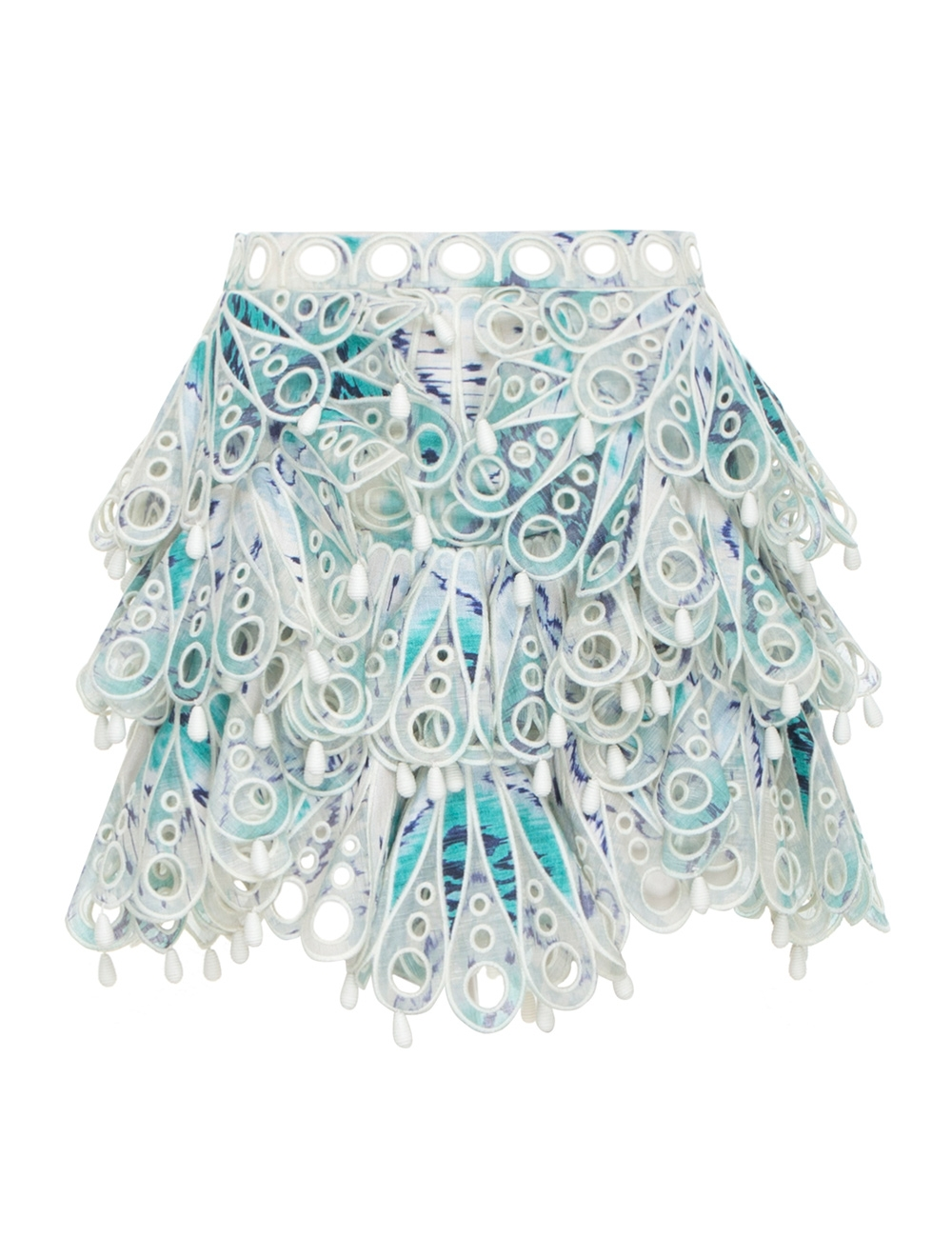 Glassy Bubble Flip Skirt
