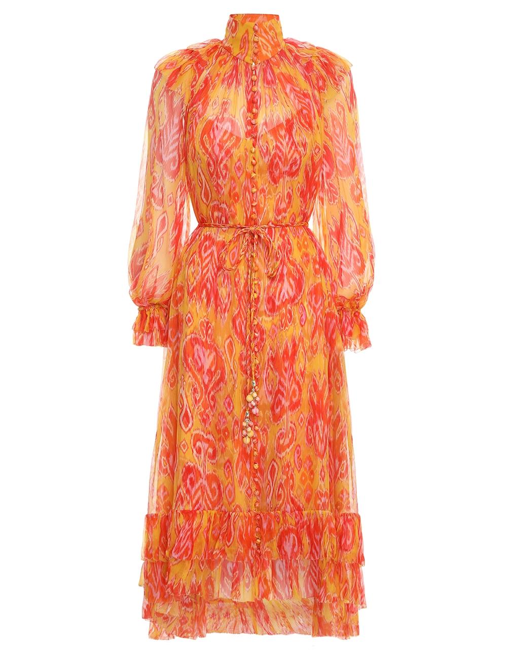 Brightside Frilled Midi Dress