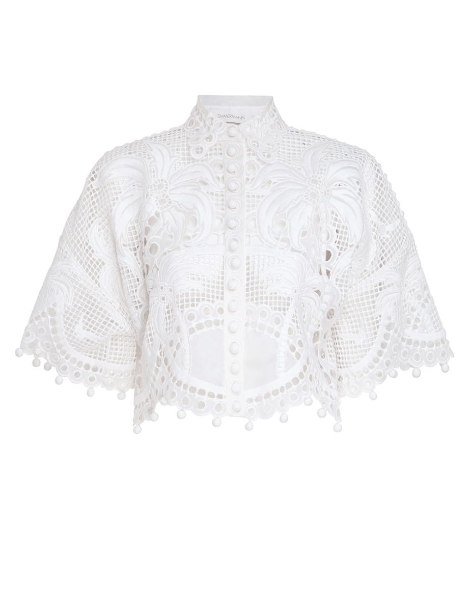Brightside Palm Cropped Shirt