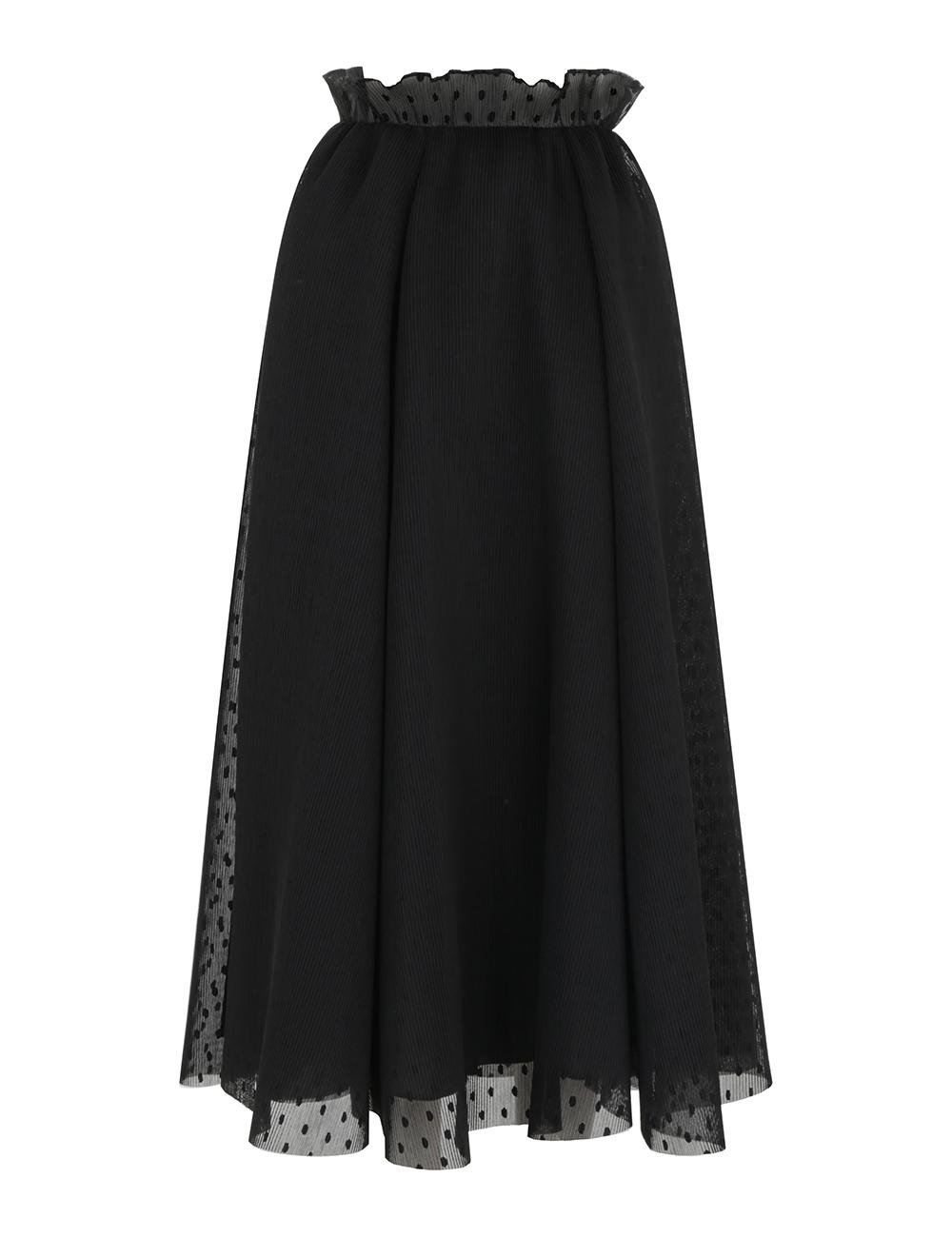 Pleat Dot Skirt