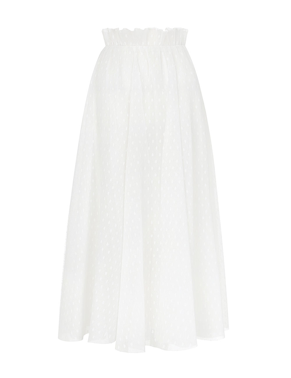 Pleat Dot Skirt
