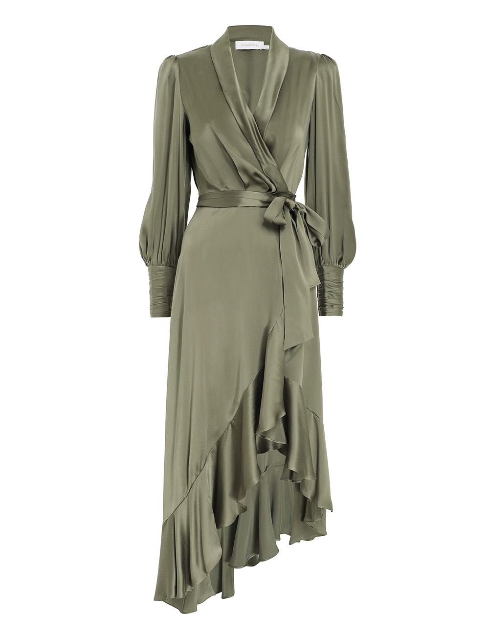 Silk Wrap Midi Dress
