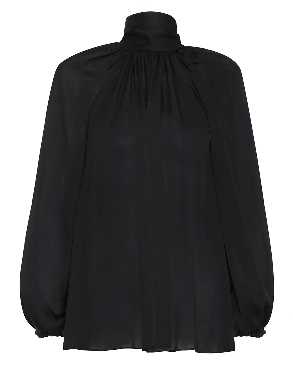 Gathered Bow Long Sleeve Top