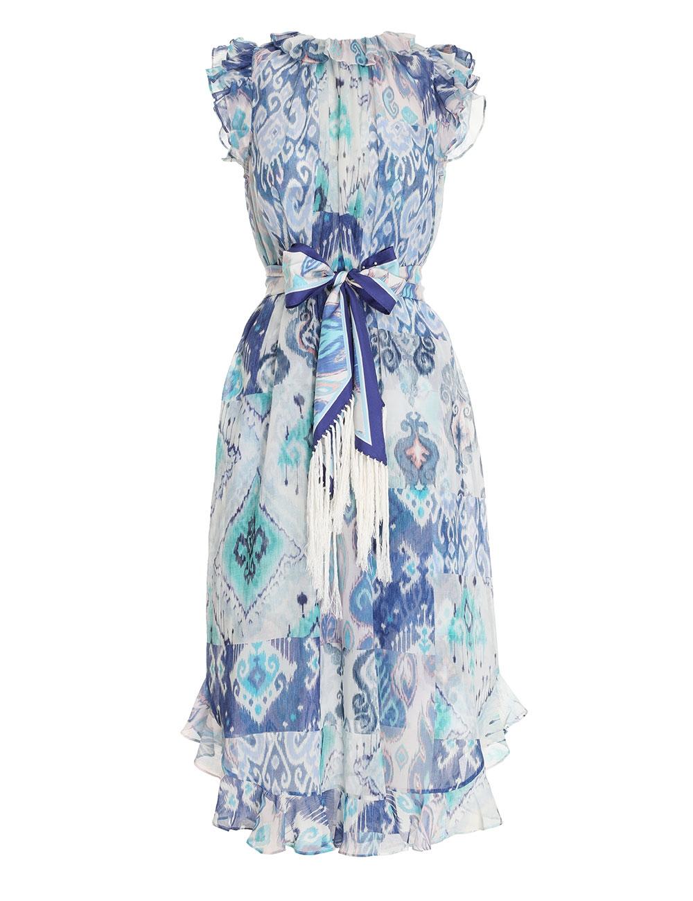 Glassy Ruffle Shoulder Dress
