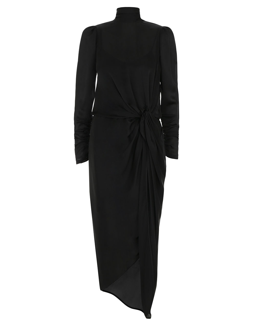 Drape Long Sleeve Dress