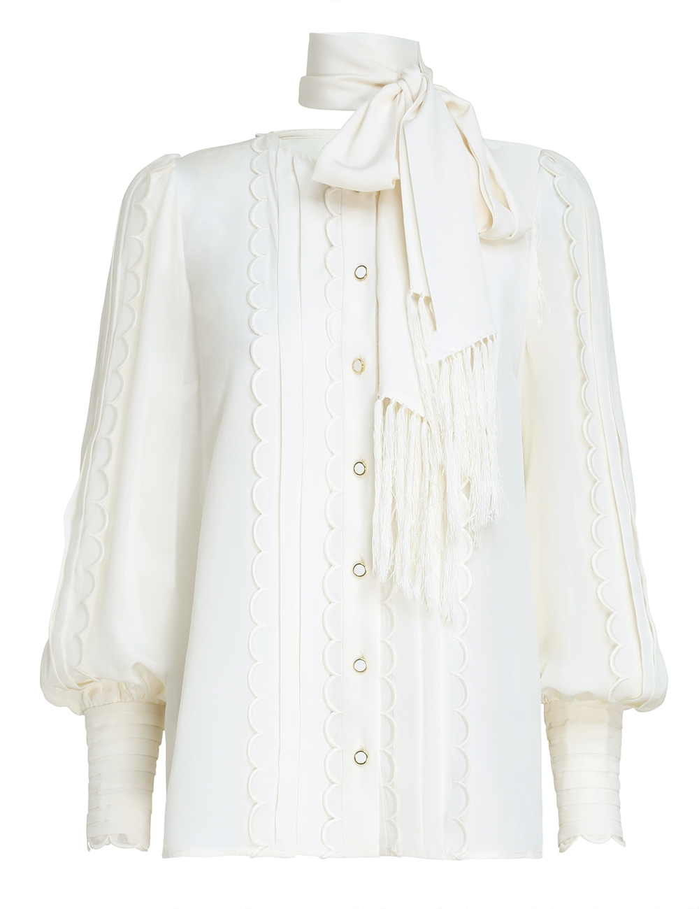 Wavelength Silk Scallop Shirt