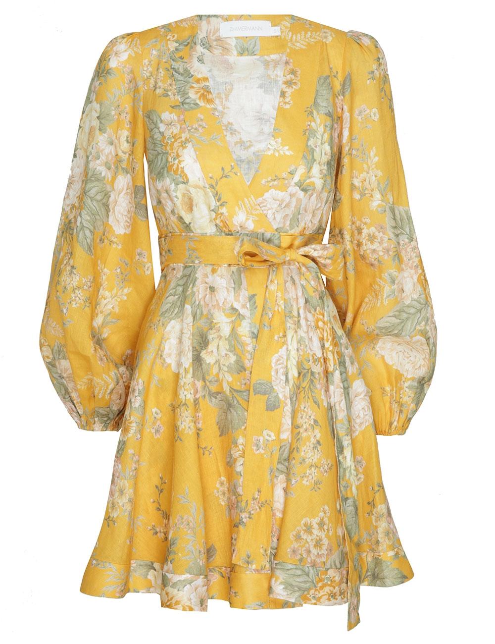 Amelie Wrap Short Dress