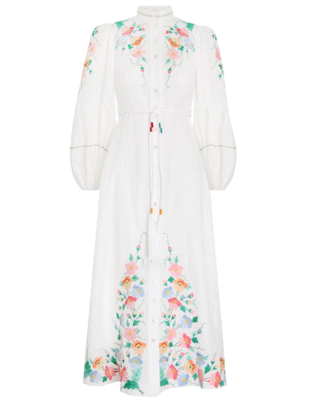 Fiesta Applique Long Dress