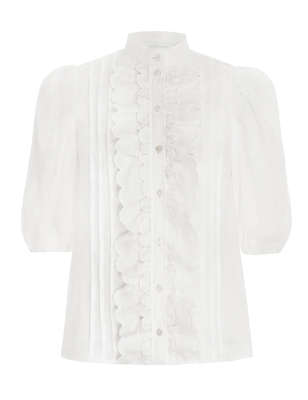 Amelie Scallop Frill Blouse