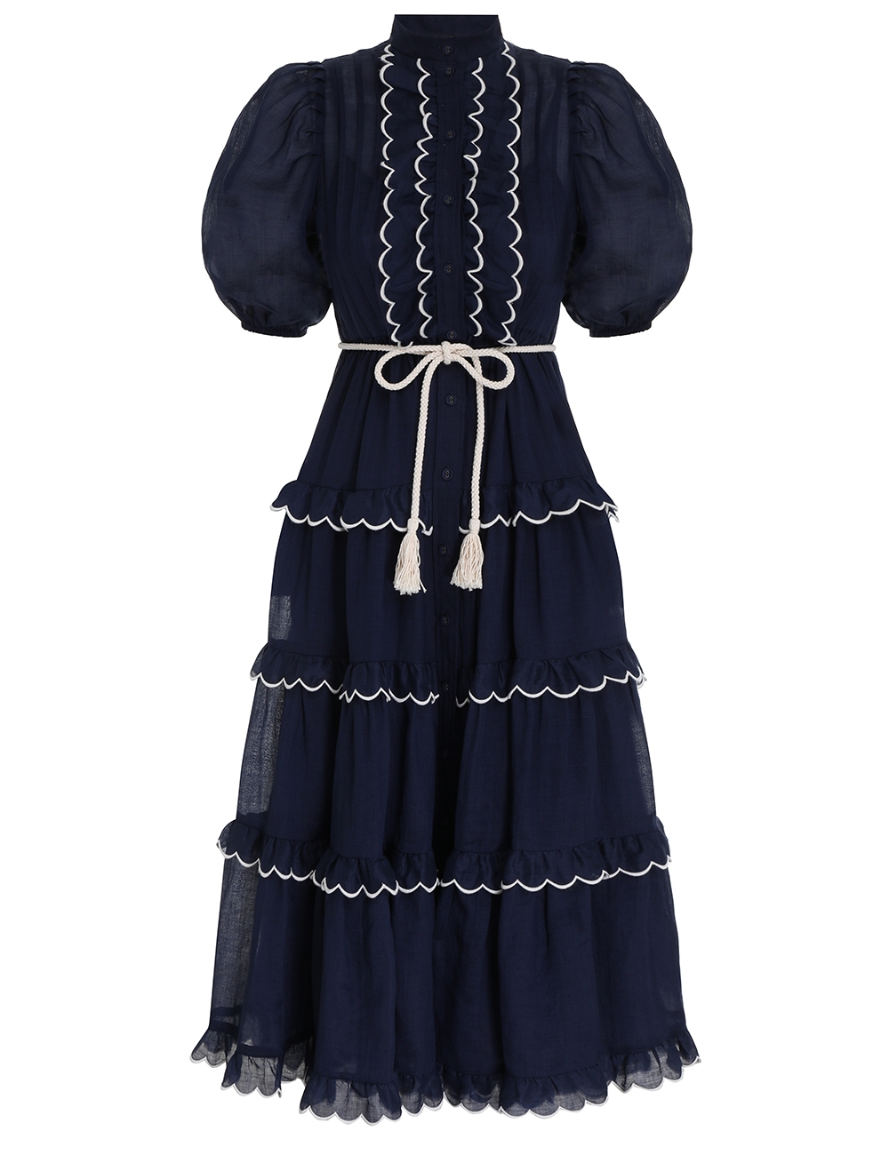 Aliane Scallop Frill Dress