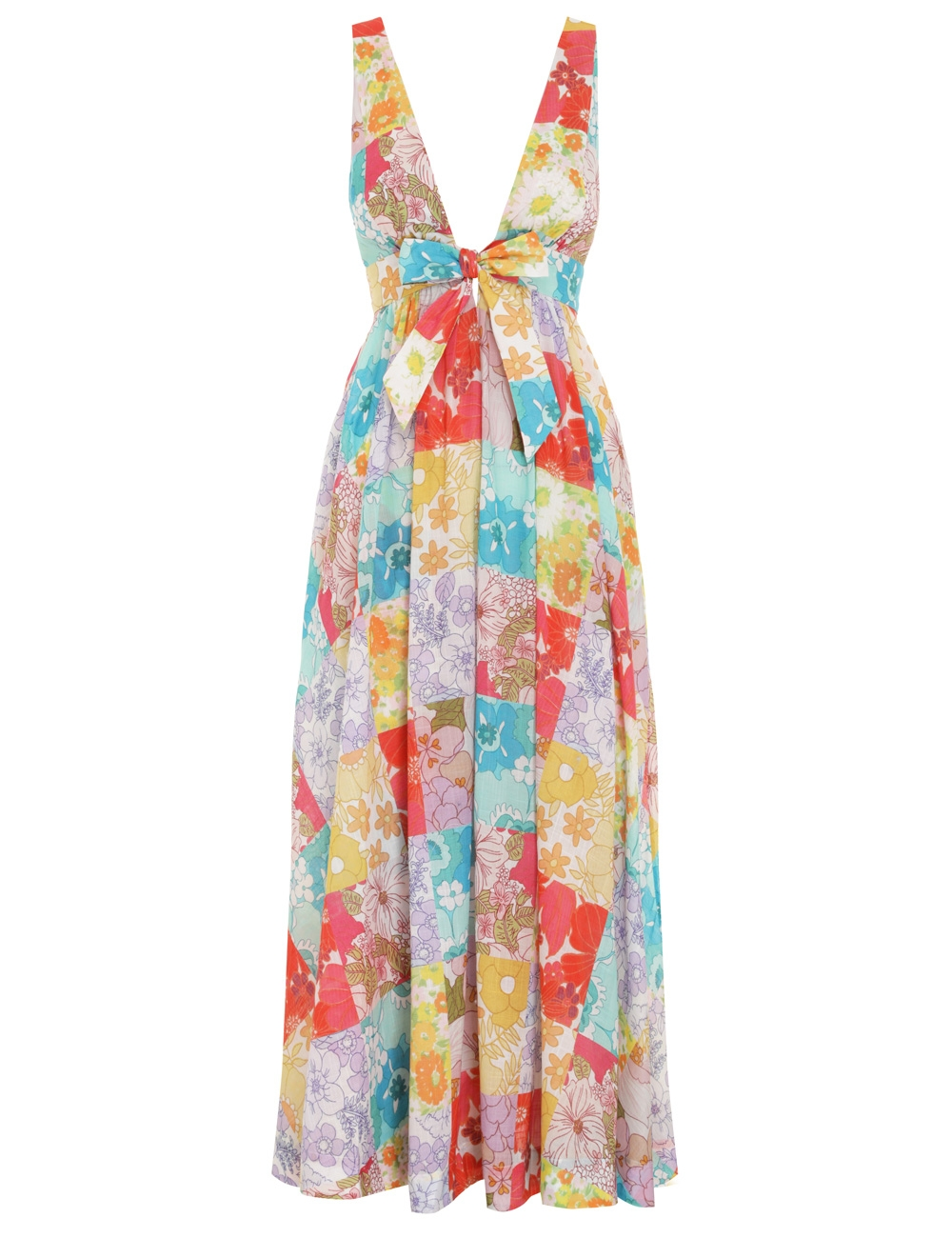 Bells Tie Front Long Dress
