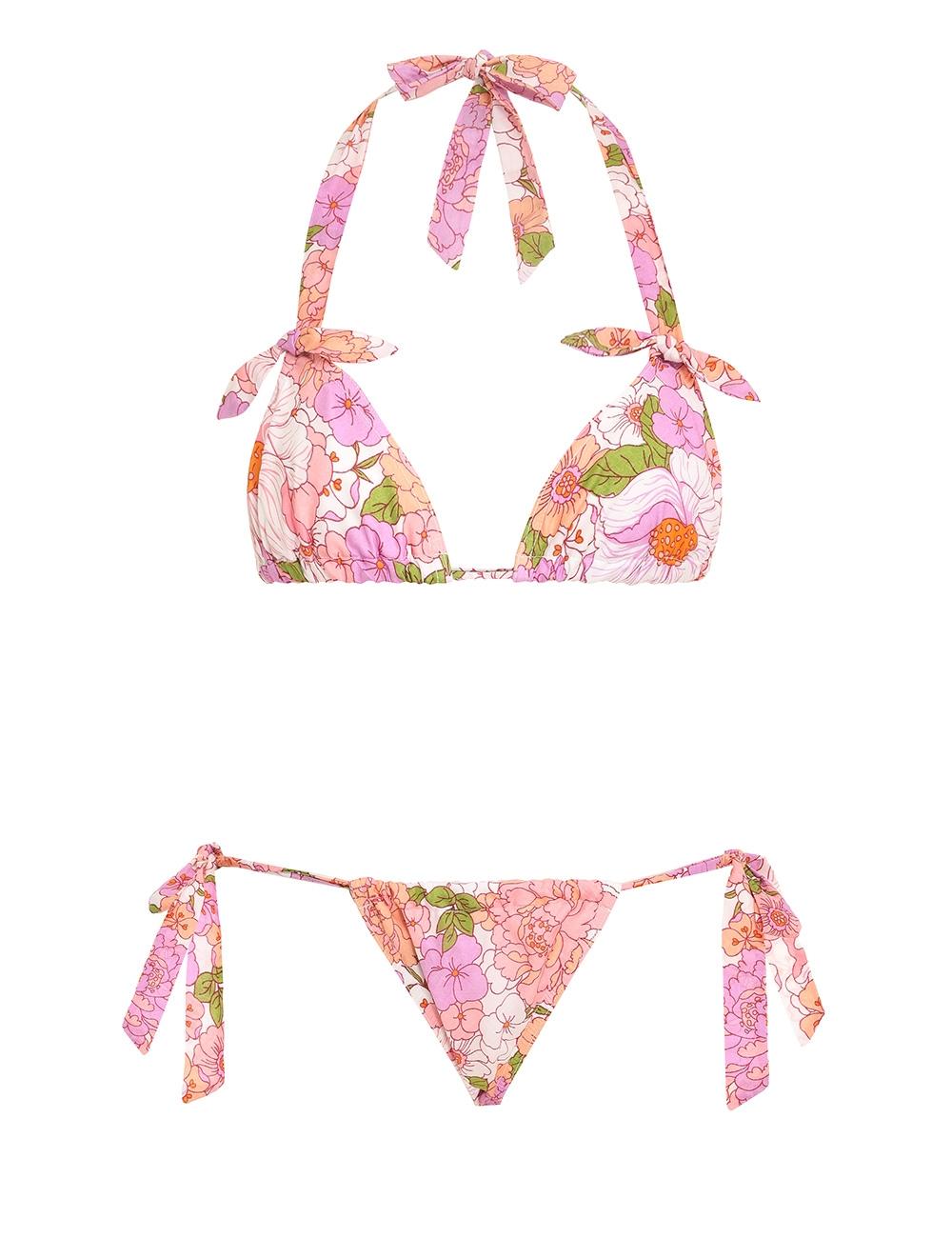 Bells Ruched Tie Bikini