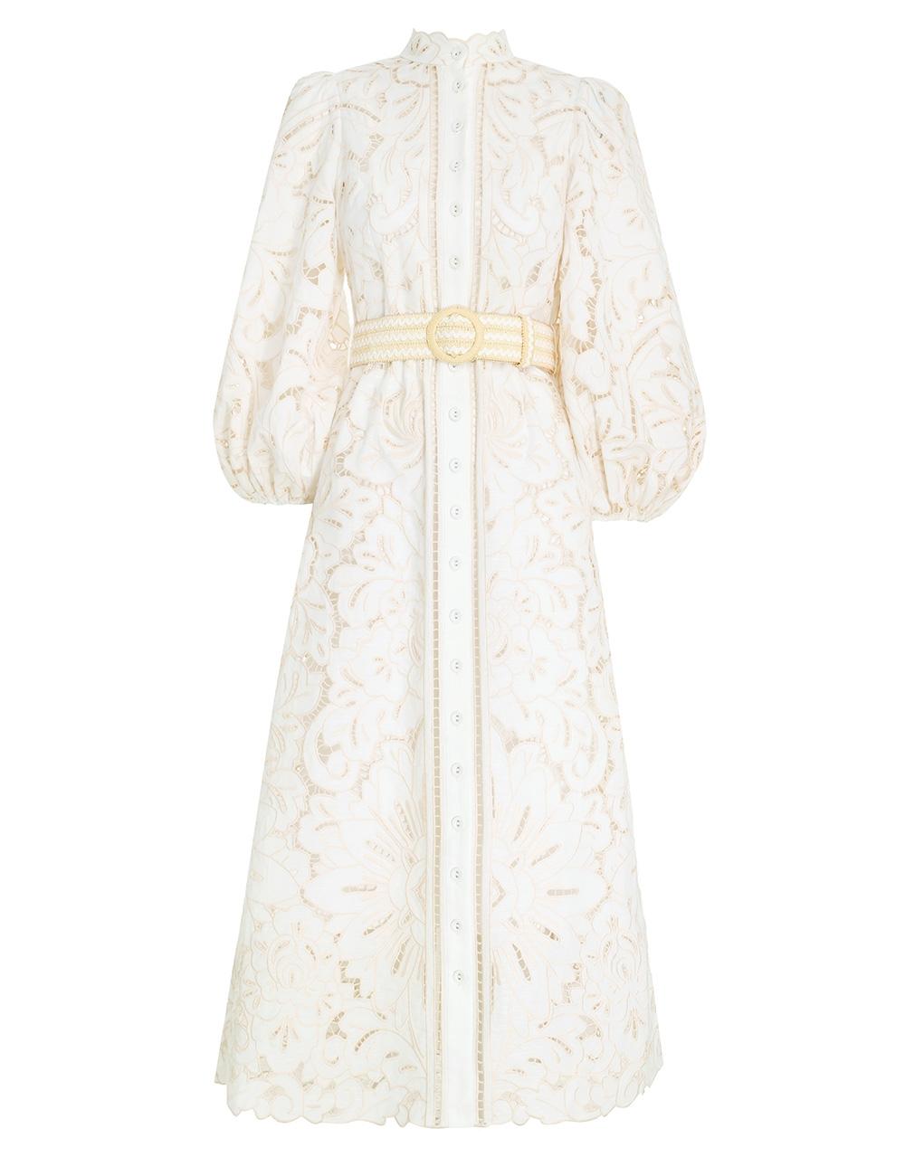 Empire Broderie Long Dress