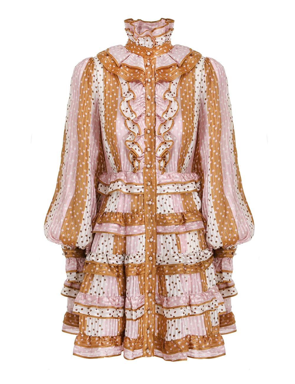 Lucky Ruffled Mini Dress