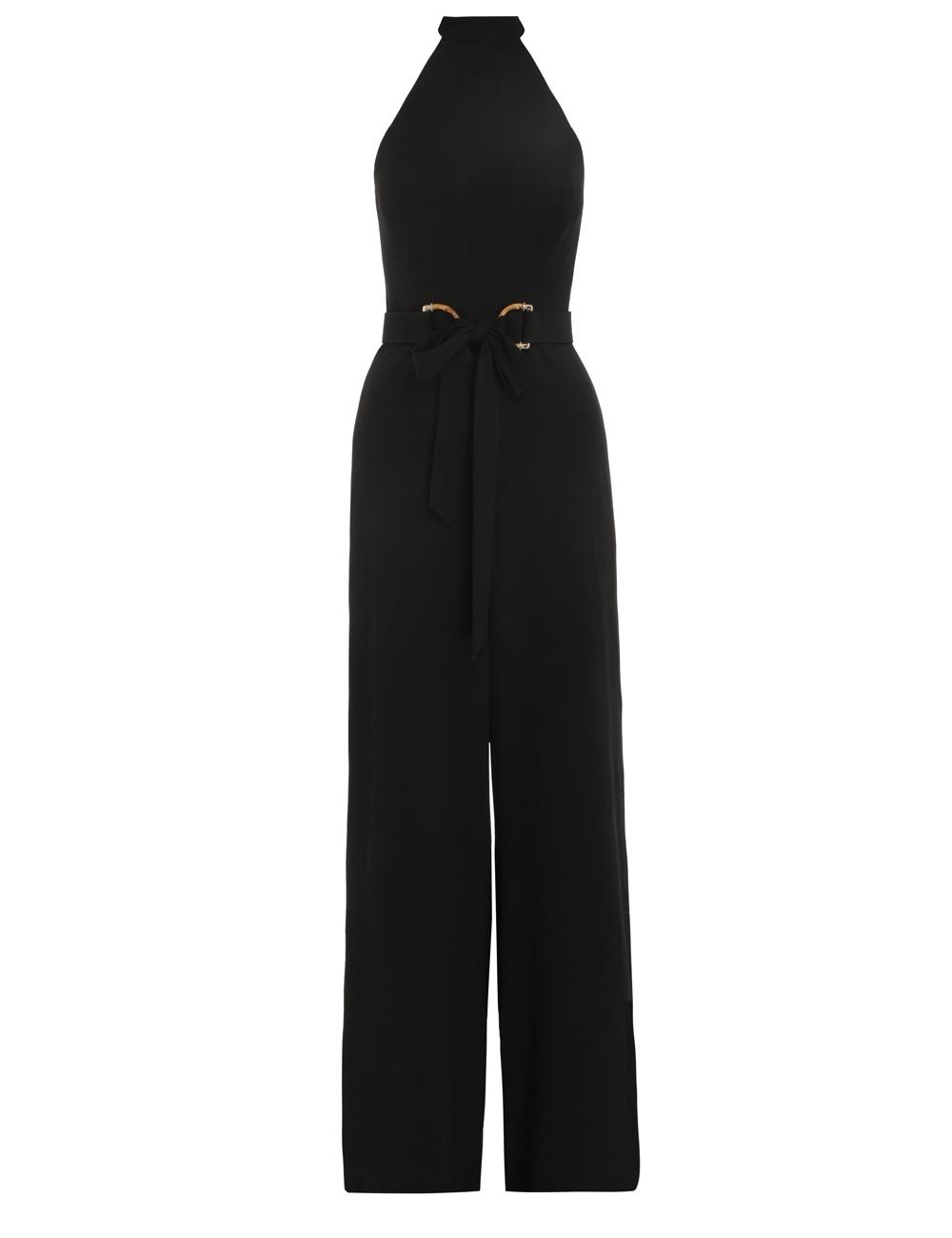 Crepe Belted Jumpsuit