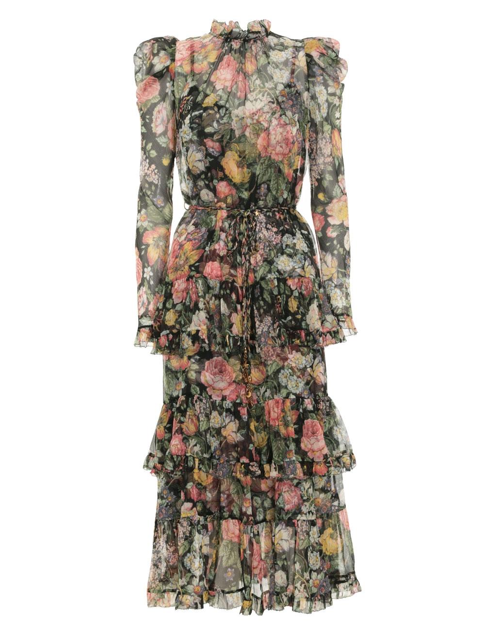 Ladybeetle Draped Sleeve Dress