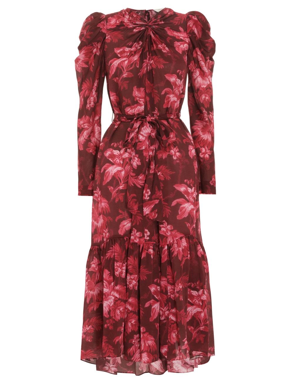Ladybeetle Twist Midi Dress