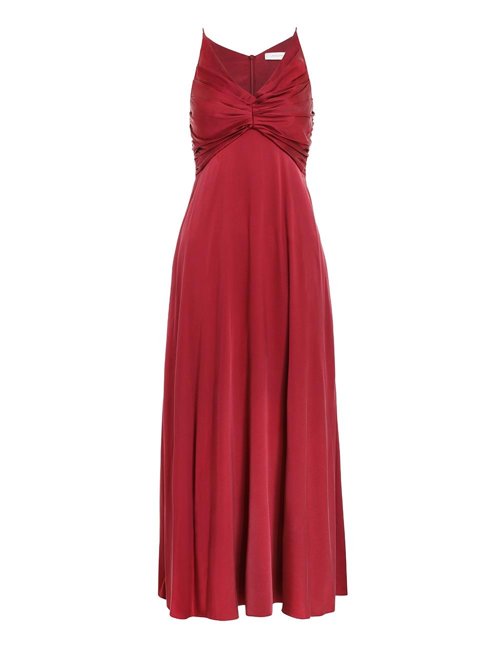 Silk Ruched Picnic Dress