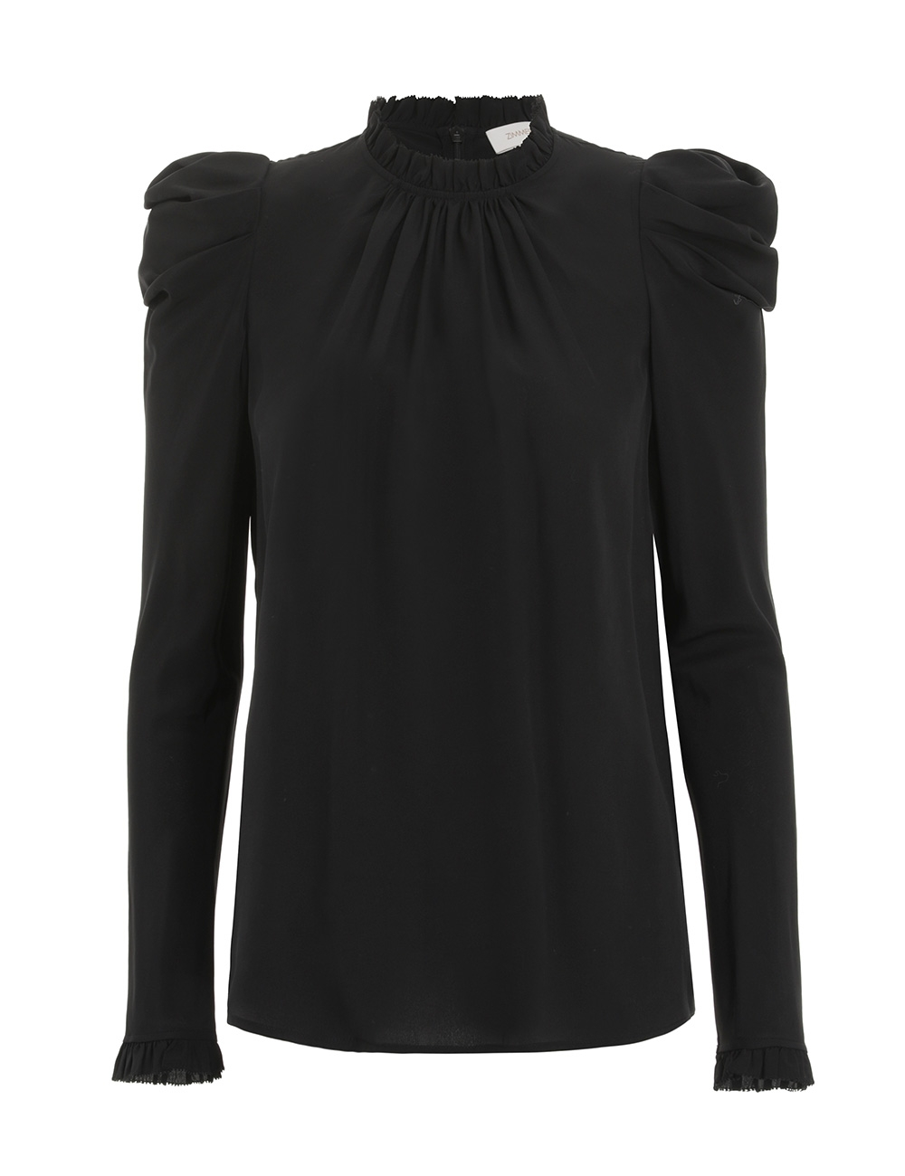 Silk Drape Shoulder Blouse