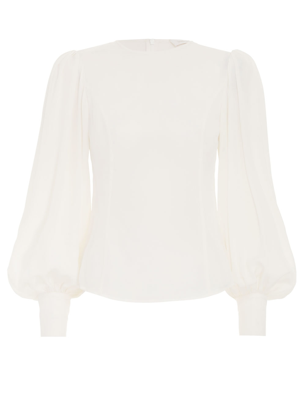 Silk Billow Sleeve Blouse