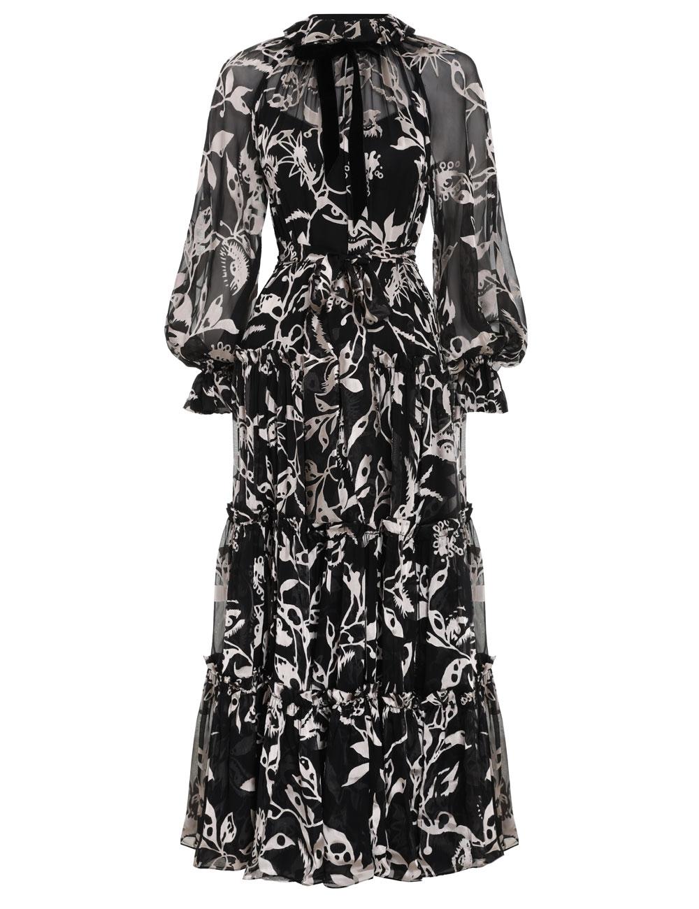 Ladybeetle Swing Long Dress