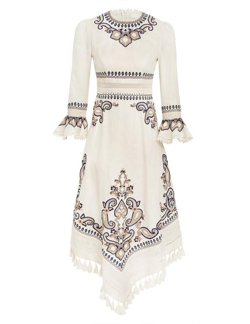 Aliane Paisley Long Dress