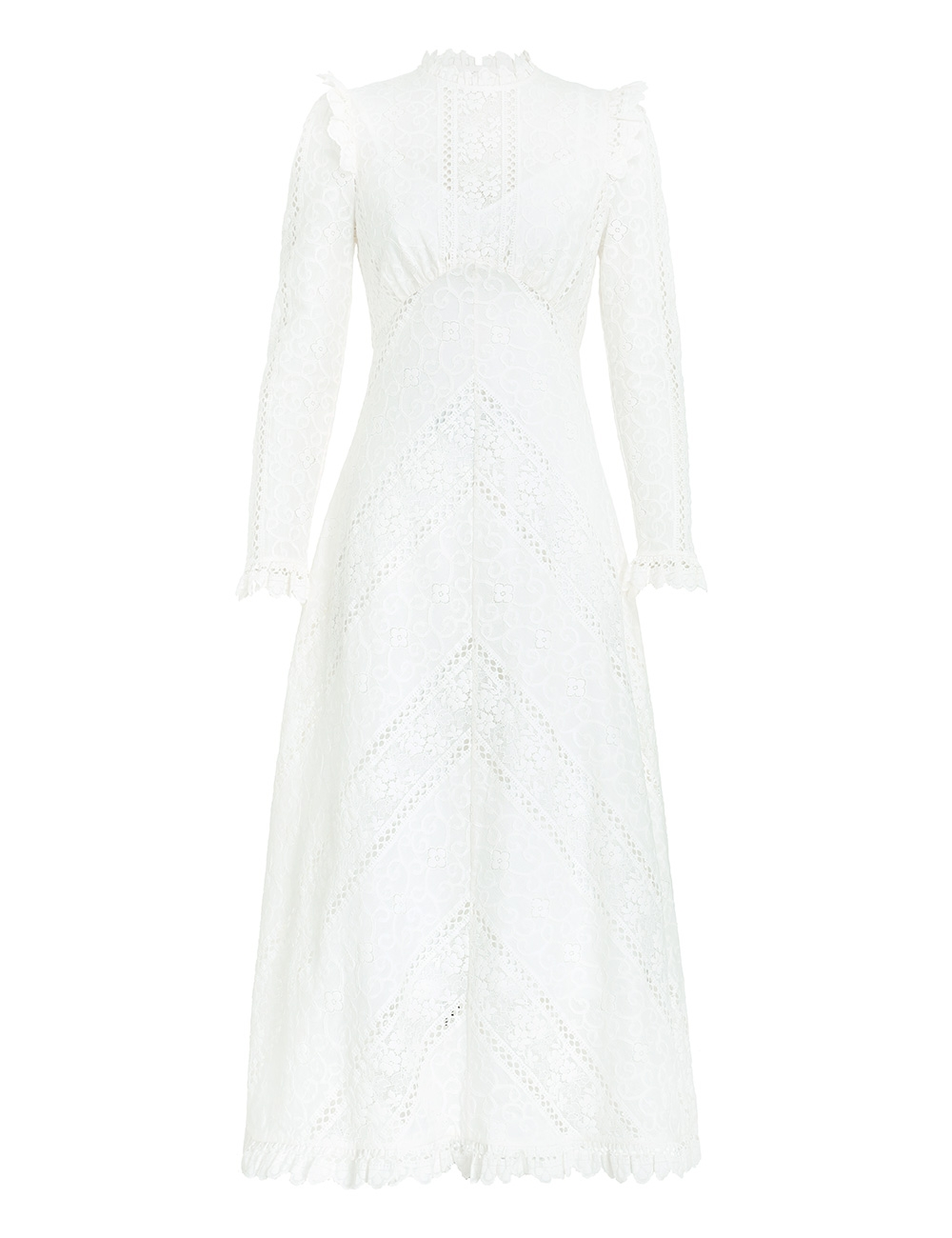 Brighton Panelled Lace Dress