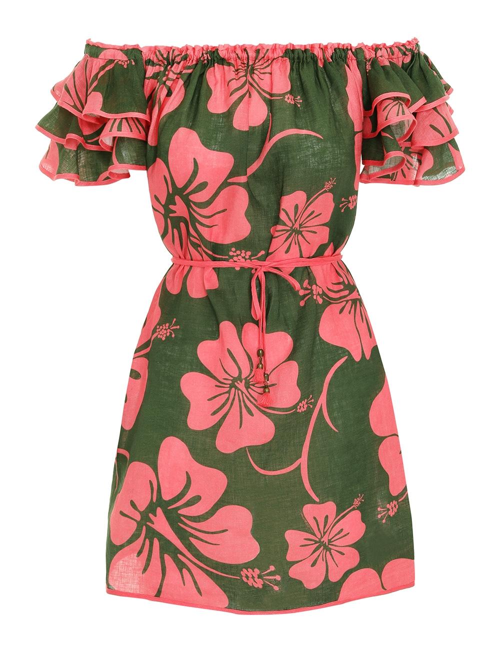 Lulu Ruffle Sleeve Short Dress