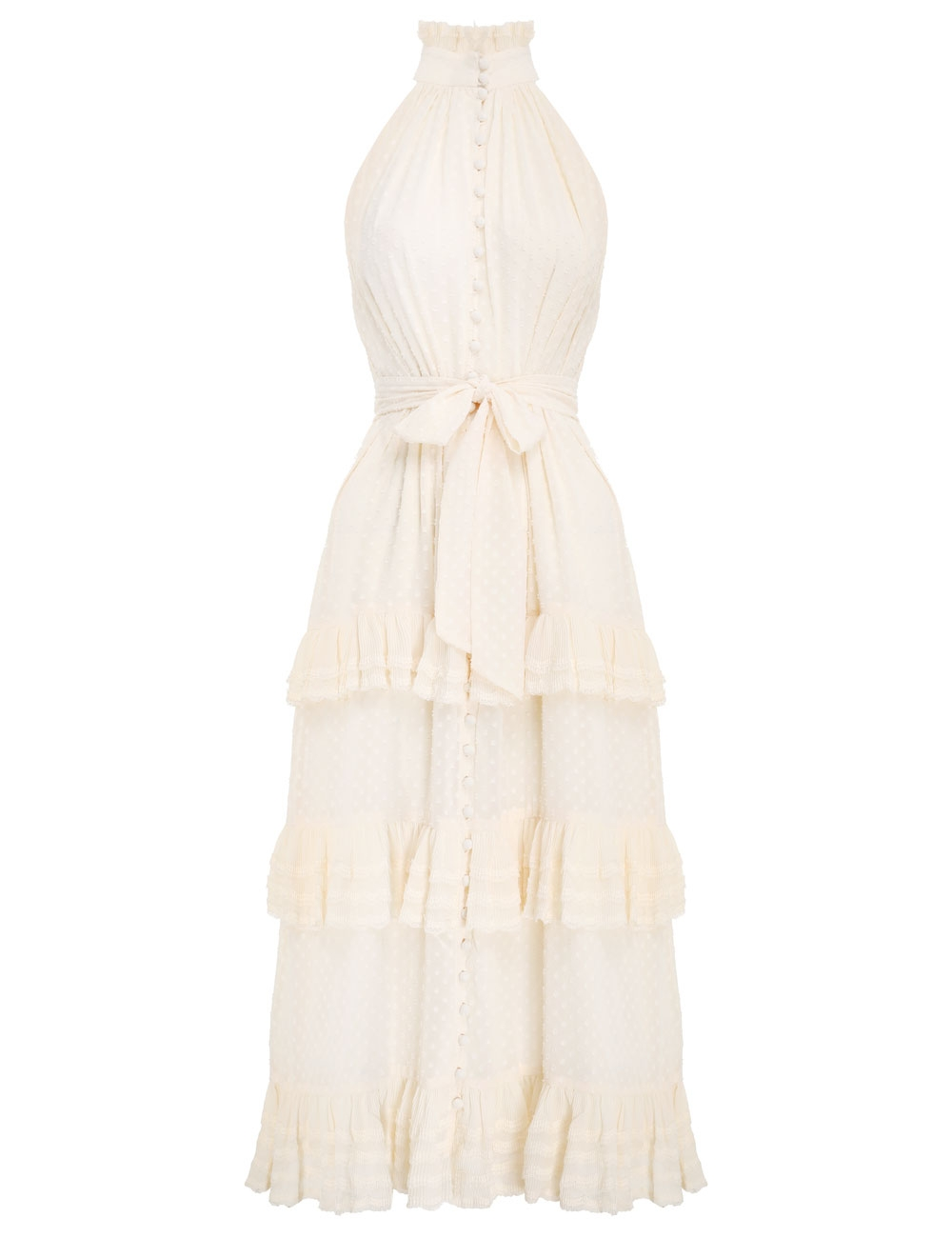 Pleated Lace Picnic Midi