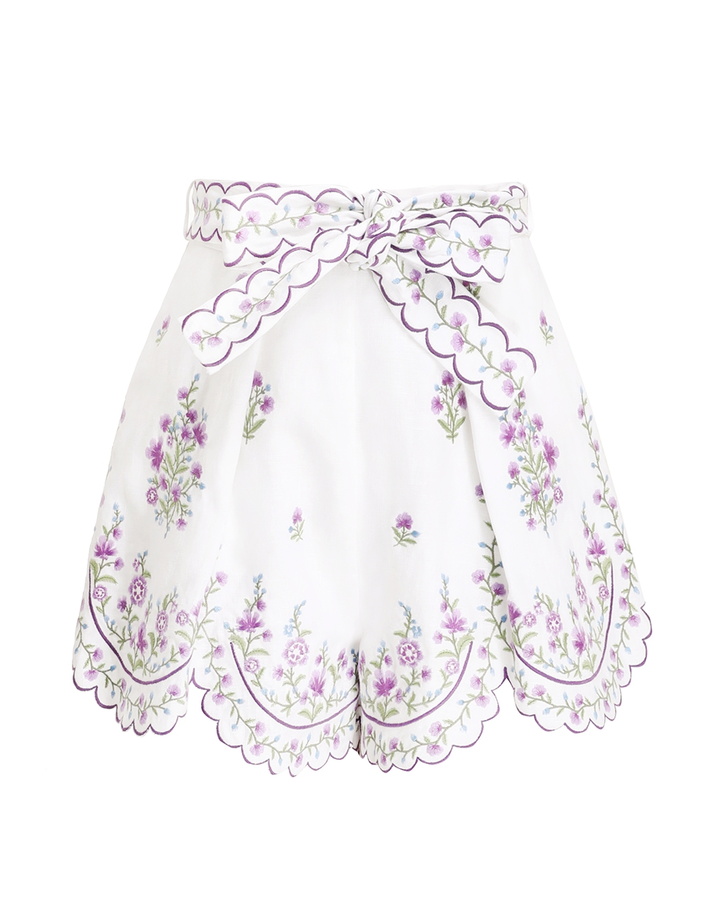 Poppy Floral Scallop Short