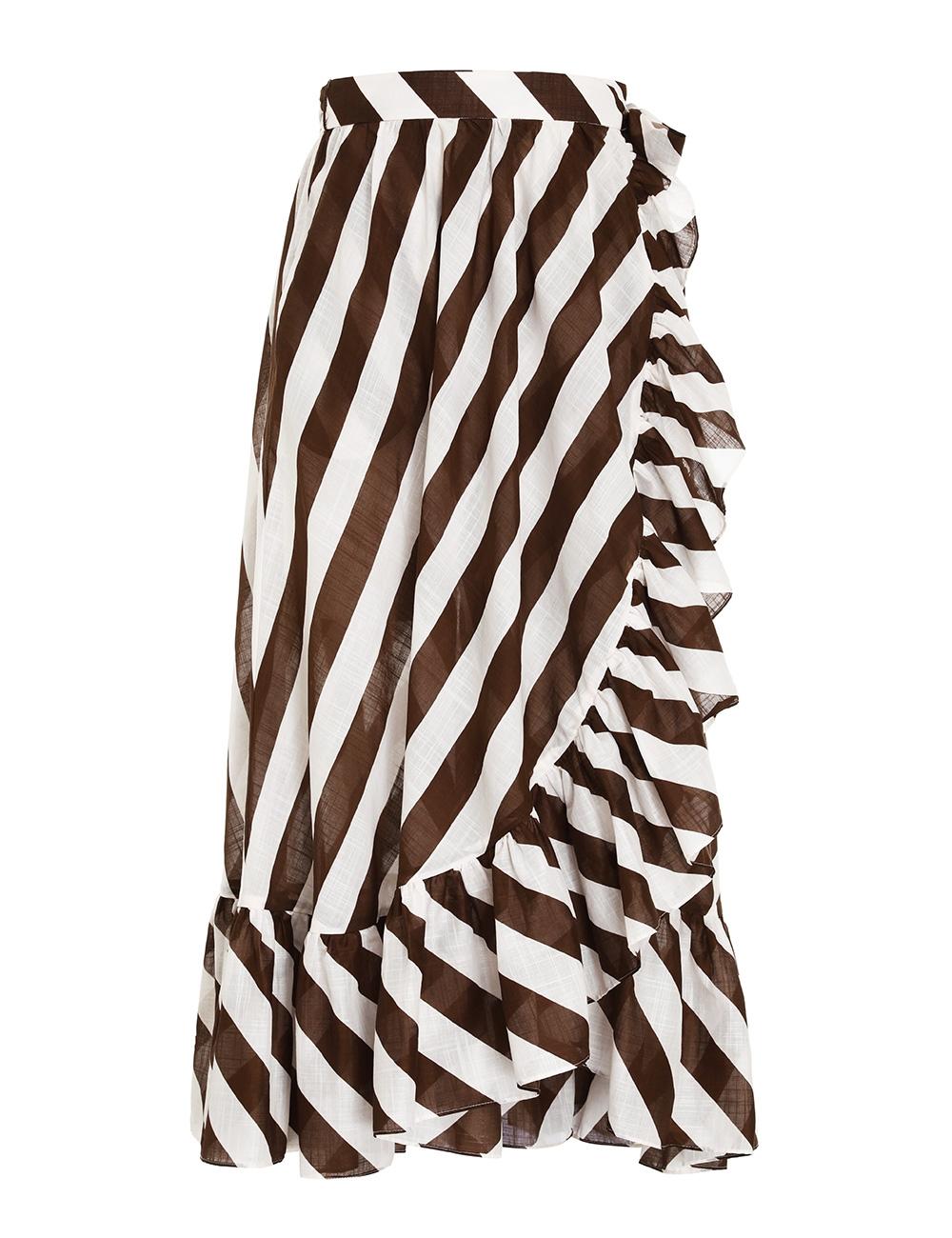 Lulu Frill Wrap Midi Skirt