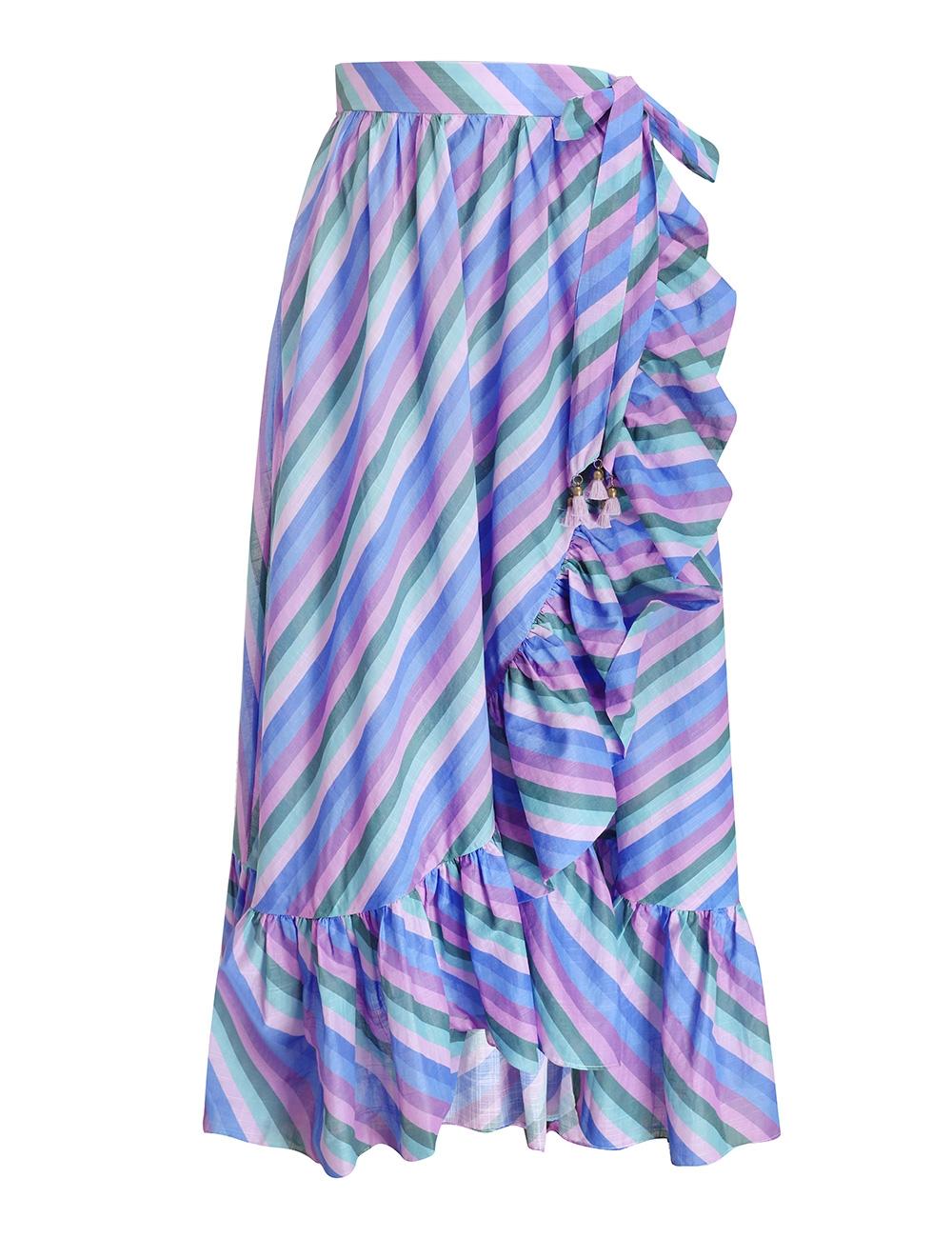 Poppy Frill Wrap Midi Skirt