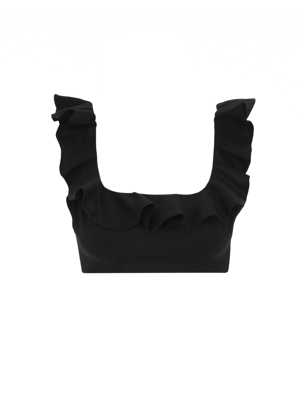 Riders Frill Neck Crop Top