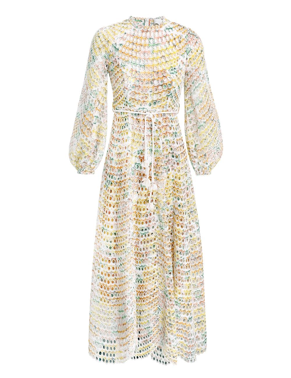 Poppy Eyelet Midi Dress