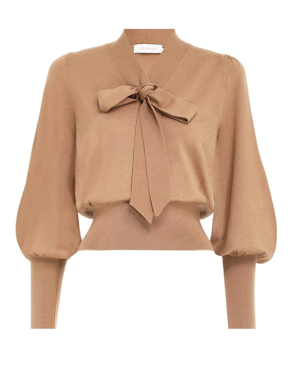 Botanica Tie-Neck Sweater