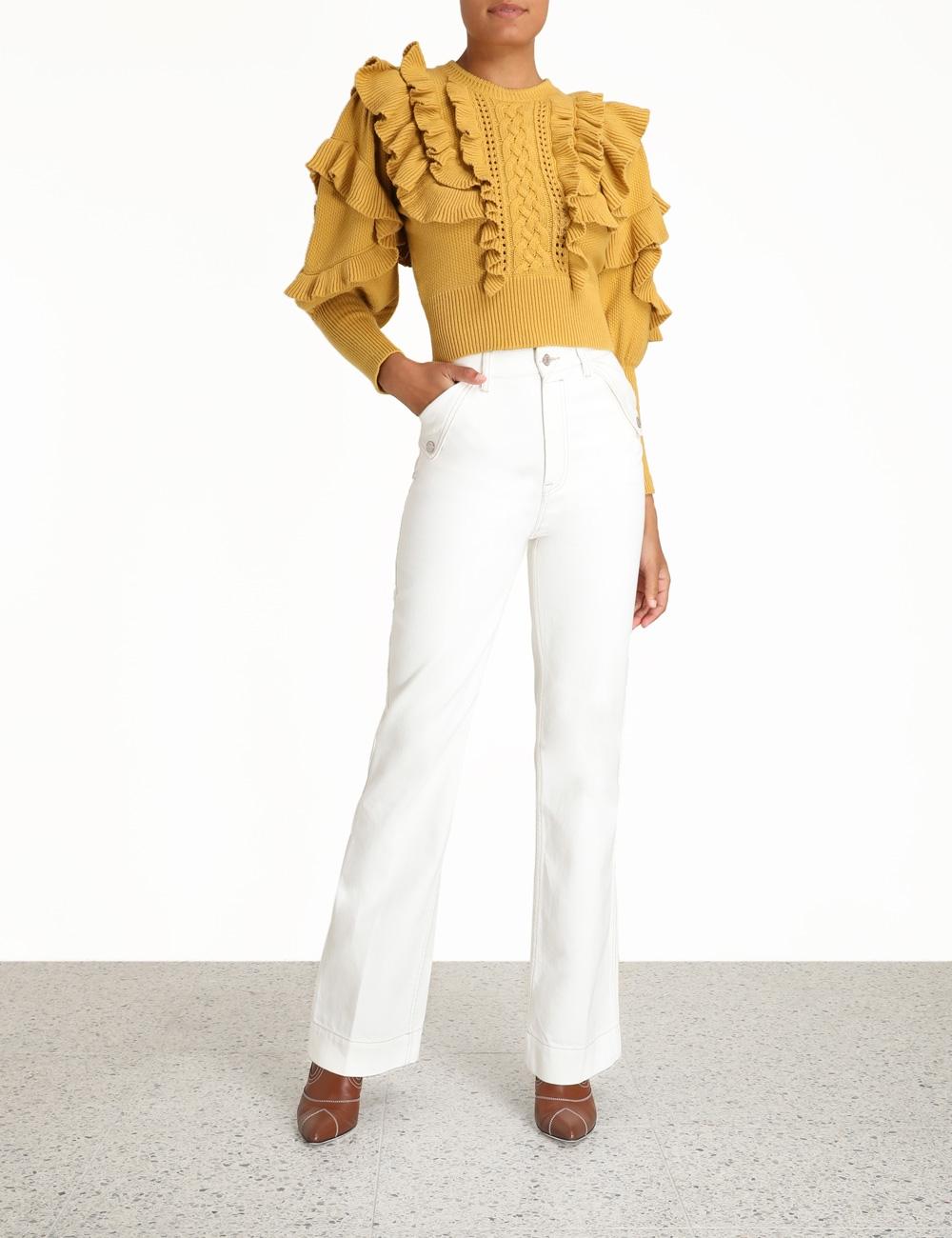 Botanica Ruffled Crop Sweater