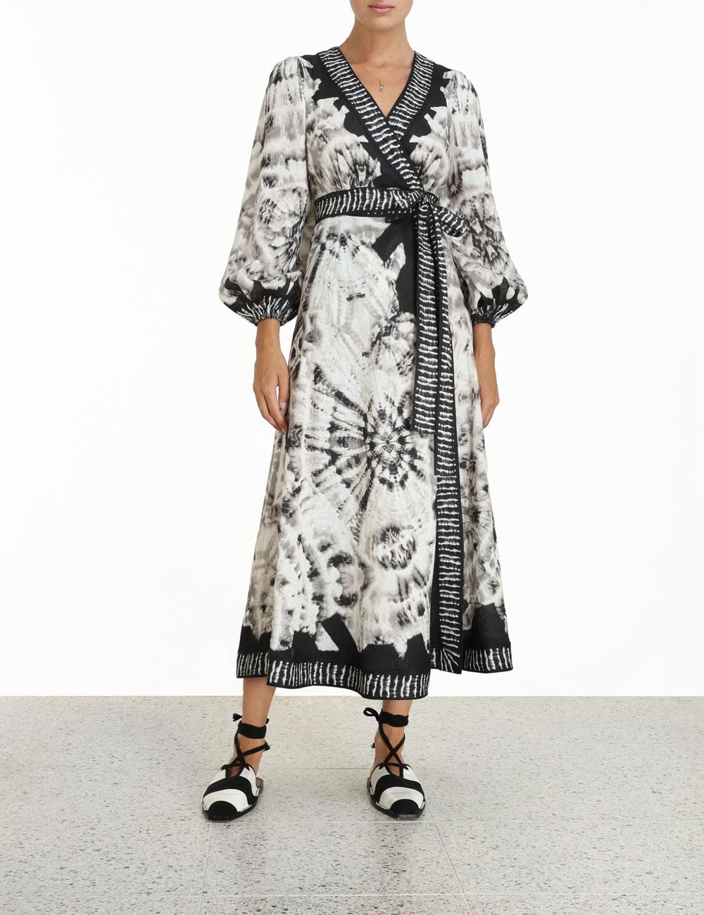 Lulu Wrap Long Dress