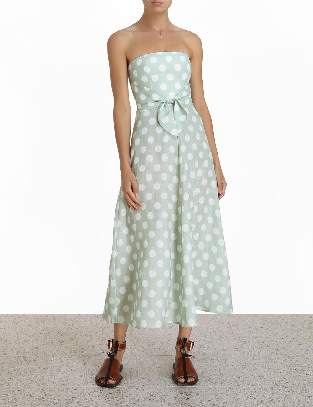 Riders Tie Waist Midi Dress