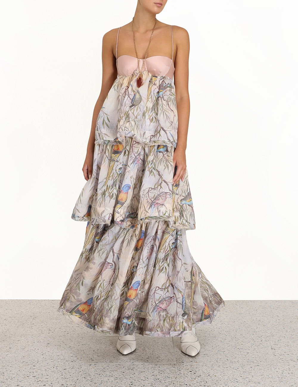 Candescent Parakeets Gown