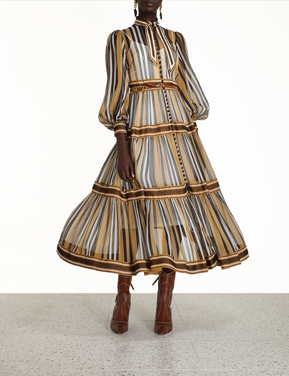 Botanica Panelled Midi Dress